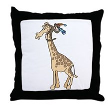 Silly Monkey & Giraffe Throw Pillow