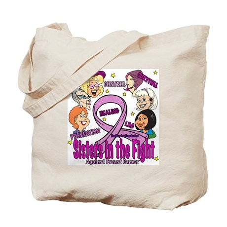 Sisters in the Fight Against Breast Cancer Tote Ba