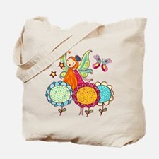 Garden Fairy With Flowers Tote Bag