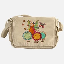 Garden Fairy With Flowers Messenger Bag