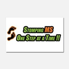 Stomping MS One Step at a Time Car Magnet 20 x 12
