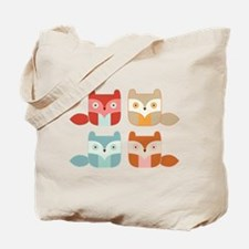 fox block Tote Bag