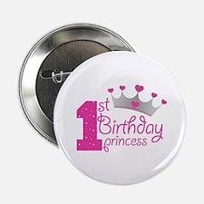 "1st Birthday Princess 2.25"" Button"