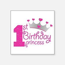 1st Birthday Princess Sticker