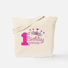 1st Birthday Princess Tote Bag
