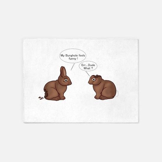 Chocolate Bunnies 5'x7'Area Rug