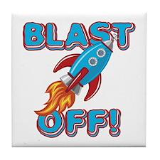 Blast Off Tile Coaster