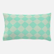 Minty Green Diamond Checkerboard Pillow Case