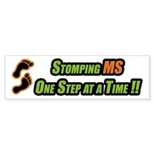 Stomping MS One Step at a Time Bumper Bumper Stickers