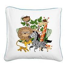 Animal Safari Square Canvas Pillow