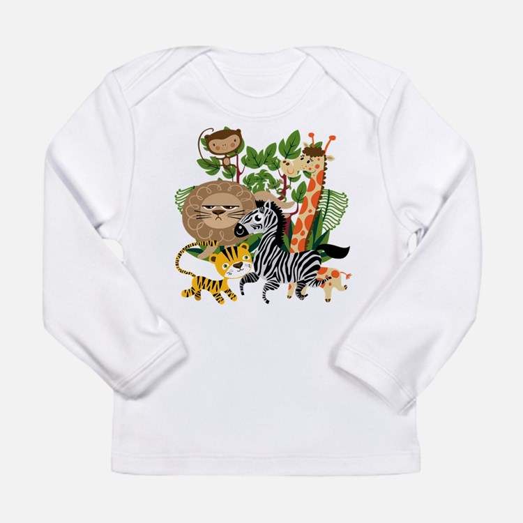 Animal Safari Long Sleeve Infant T-Shirt