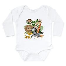 Animal Safari Long Sleeve Infant Bodysuit