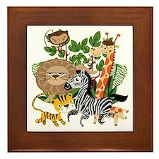 Animal Safari Framed Tile