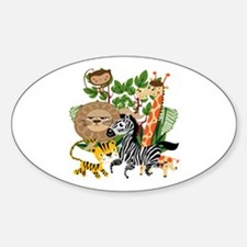 Animal Safari Sticker (Oval)