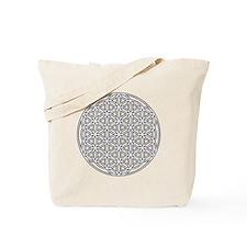 Flower of Life Single White Tote Bag