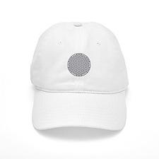 Flower of Life Single White Baseball Cap