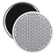 Flower of Life Single White Magnet
