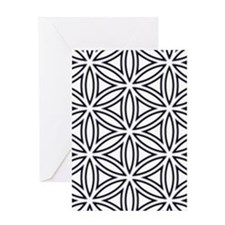 Flower of Life Single White Greeting Card