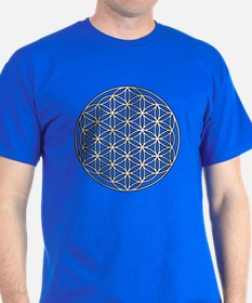 Flower of Life Single White T-Shirt