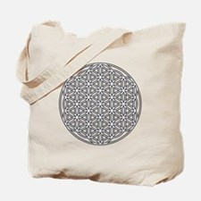 Flower of Life Single White Tote Bag
