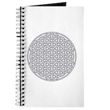 Flower of Life Single White Journal