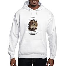 Quit Smoking Motivational Fun Squirrel Quote Hoodi