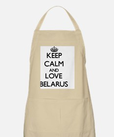Keep Calm and Love Belarus Apron