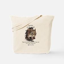 Quit Smoking Motivational Fun Squirrel Quote Tote