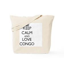 Keep Calm and Love Congo Tote Bag