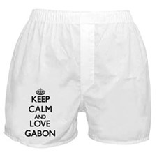 Keep Calm and Love Gabon Boxer Shorts