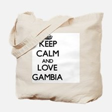 Keep Calm and Love Gambia Tote Bag
