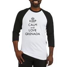 Keep Calm and Love Grenada Baseball Jersey