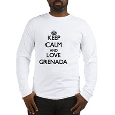 Keep Calm and Love Grenada Long Sleeve T-Shirt