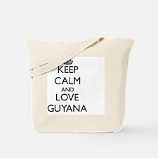 Keep Calm and Love Guyana Tote Bag