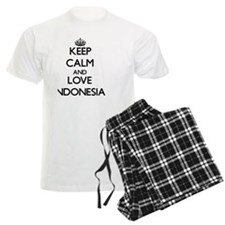 Keep Calm and Love Indonesia Pajamas
