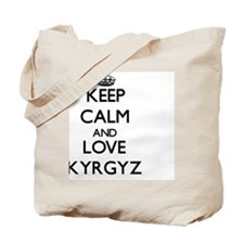 Keep Calm and Love Kyrgyz Tote Bag