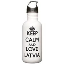 Keep Calm and Love Lat Water Bottle