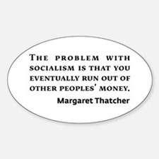 Socialism Margaret Thatcher Quote Decal
