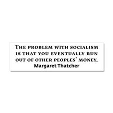 Socialism Margaret Thatcher Quote Car Magnet 10 x