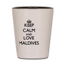 Keep Calm and Love Maldives Shot Glass