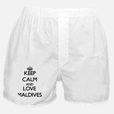 Keep Calm and Love Maldives Boxer Shorts