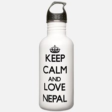 Keep Calm and Love Nep Water Bottle
