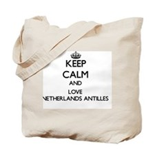 Keep Calm and Love Netherlands Antilles Tote Bag