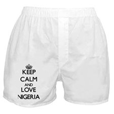 Keep Calm and Love Nigeria Boxer Shorts