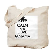 Keep Calm and Love Panama Tote Bag
