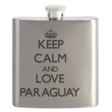 Keep Calm and Love Paraguay Flask