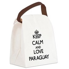 Keep Calm and Love Paraguay Canvas Lunch Bag