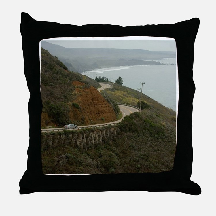 coastal highway 1 Throw Pillow