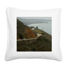 coastal highway 1 Square Canvas Pillow