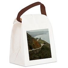 coastal highway 1 Canvas Lunch Bag